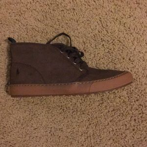 Size 5 polo men's brown boots